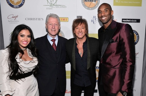 Richie Sambora joined President Bill Clinton and Kobe and Vanessa Bryant at the grand opening of STEP UP ON VINE on Monday, January 14, 2013 in       Los Angeles.Credit/Copyright: Press Here Publicity