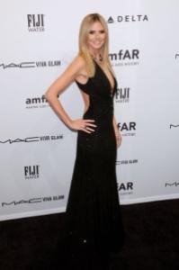 Heidi Klum at amfAR 2013