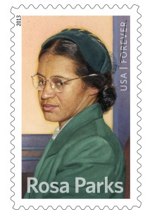 Rosa Parks Forever Stamp via PR Newswire